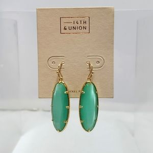 Nordstrom fishhook seafoam color earring